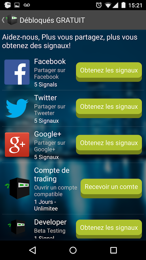 Signaux forex