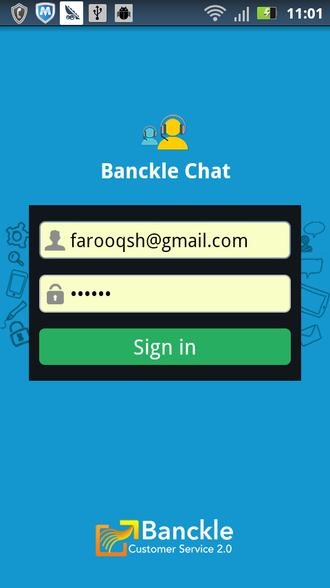 Banckle Chat - screenshot