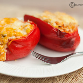 Chicken & Cream Cheese Stuffed Peppers.