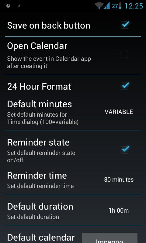 Pocket Event ICS (Quick Add) - screenshot
