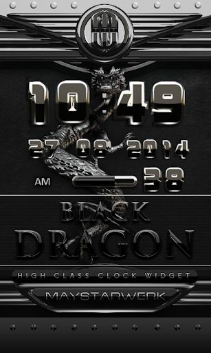 dragon digital clock black