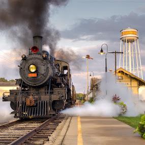 SOU # 401 @ Monticello,Illinois by Adam McHone - Transportation Trains