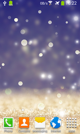 Gold Glitter Live Wallpaper