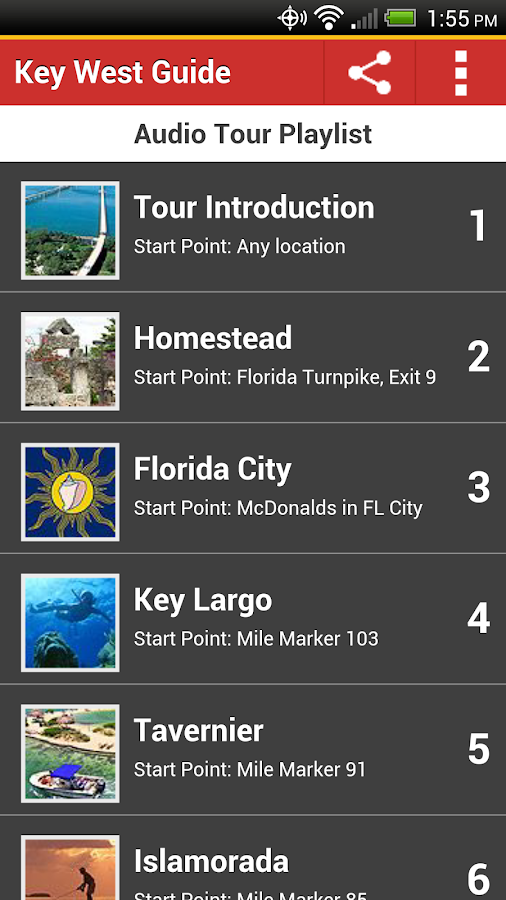Key West Tour Guide- screenshot