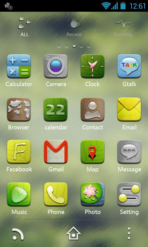 H-Droplet GO Launcher Theme - screenshot