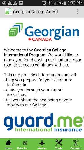 Georgian College Arrival