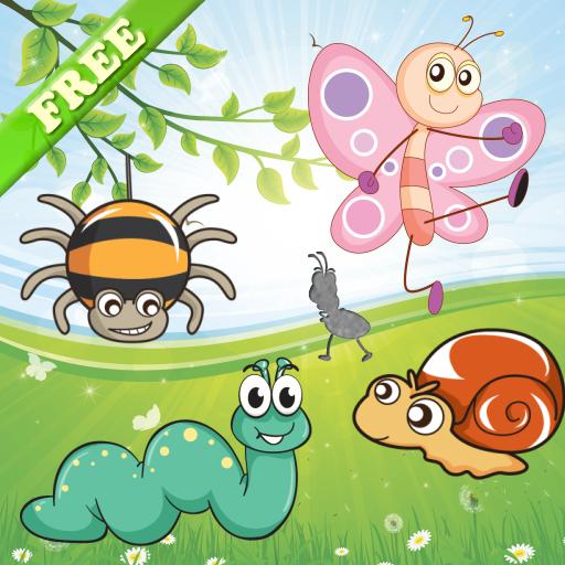 幼儿和孩子们和小女孩的昆虫拼图 教育 App LOGO-硬是要APP