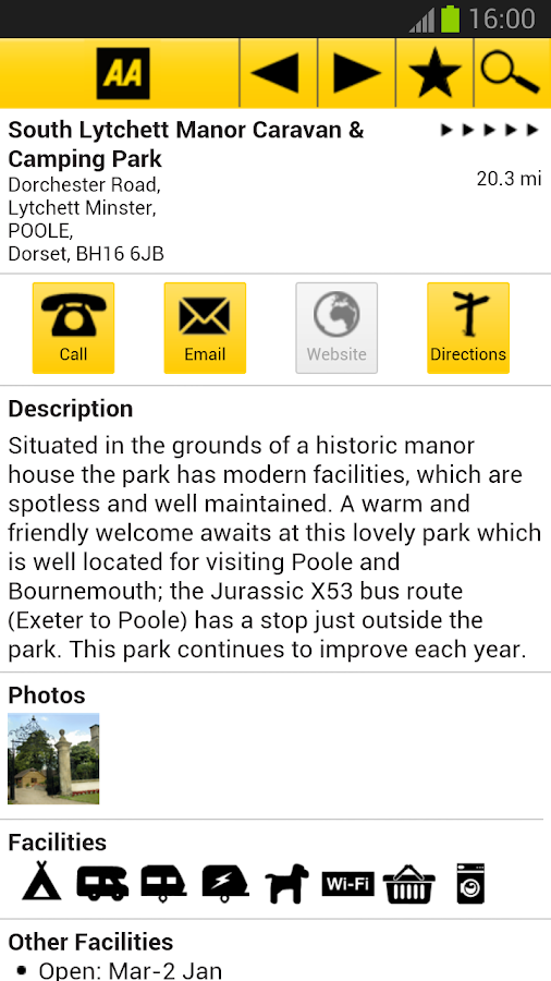 2013 AA Caravan&Camping Guide - screenshot