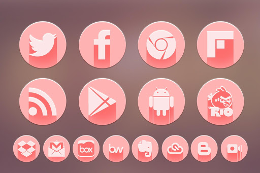Pink Icon Pack - Go TSF Shell