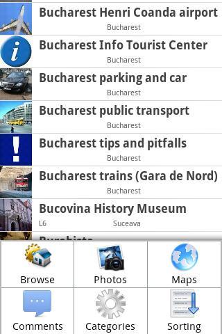 Romania Traveler's Guide - screenshot