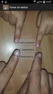Suma de dedos