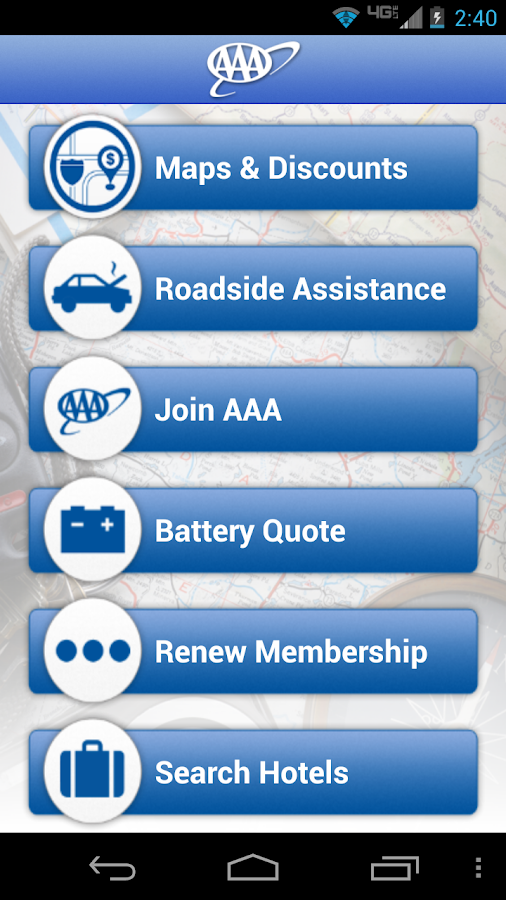 AAA Mobile - screenshot