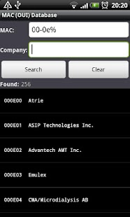 MAC (OUI) Database- screenshot thumbnail