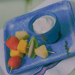 Caribbean Fruits With Key Lime Dip.