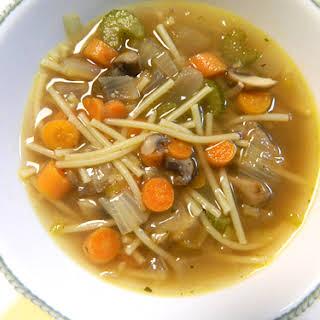 Vegetable Noodle Soup.