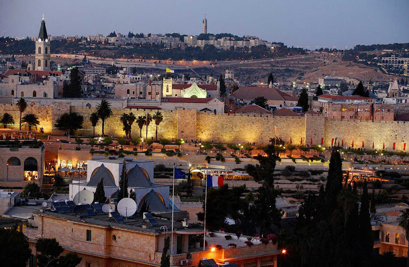 Jerusalem at twilight.