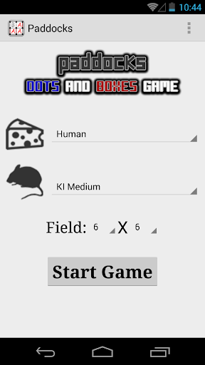 Paddocks: dots and boxes game