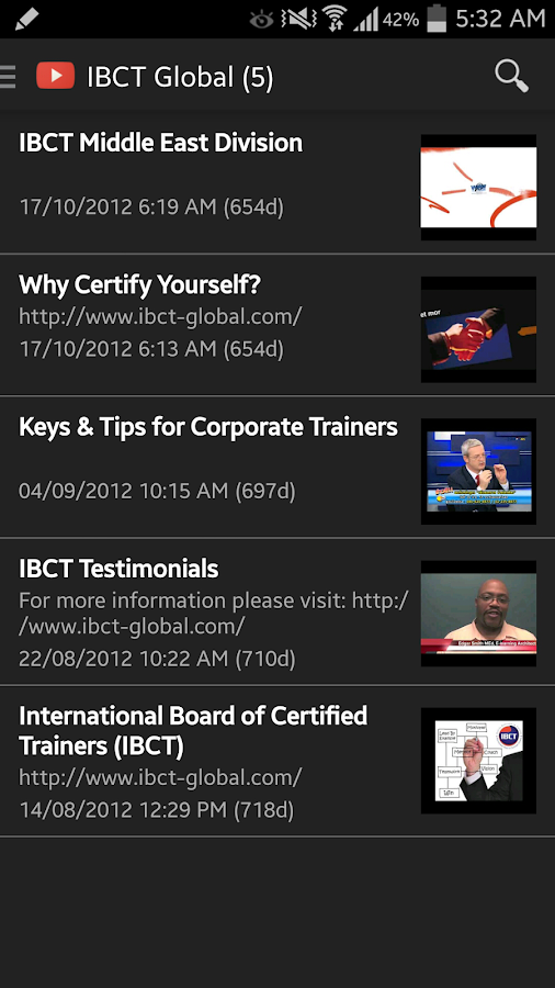 IBCT App- screenshot