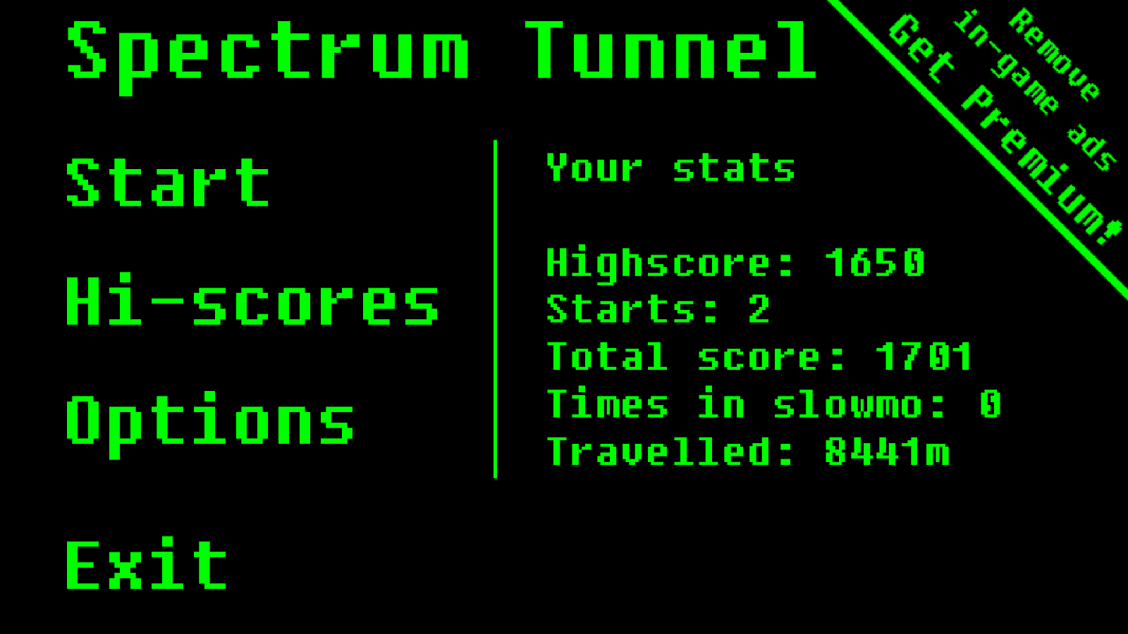 Spectrum Tunnel- screenshot