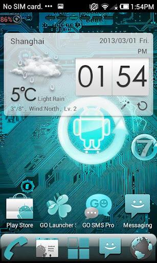Cyanogen Pro GO Launcher Theme