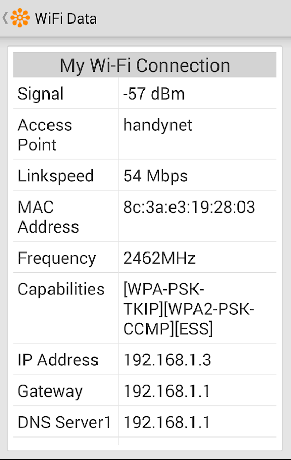 WIFI Signal Strength - screenshot