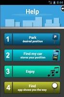 Screenshot of Find My Car