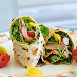 Spicy Chicken Wrap—Lunch for One (with Pictorial).