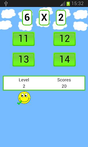 数学の乗算ゲーム