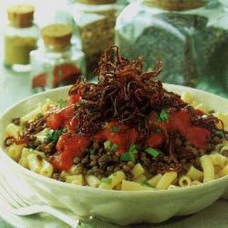 Egyptian Lentils with Macaroni Recipe