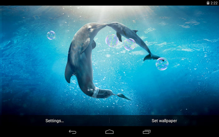 dolphins live wallpaper google play のアプリ