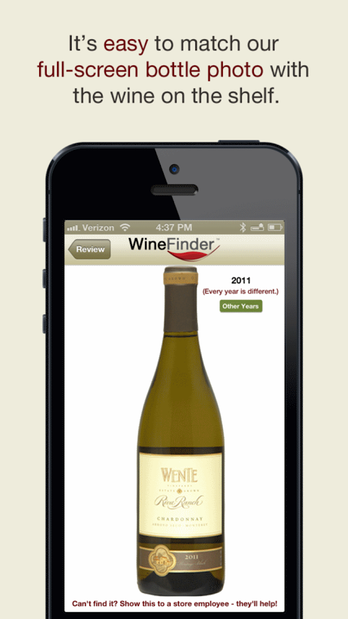 Thumbs Up WineFinder Wine App- screenshot