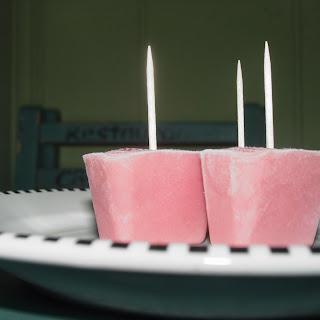 Rhubarb Popsicles.