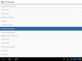 Screenshot of CCTV Calculator