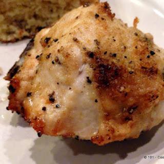 Garlic Oven Roasted Bone-in Skin-on Chicken Breast (AKA Split Chicken Breast).