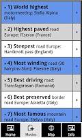 Screenshot of Best motorcycle roads Europe