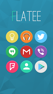 Flatee – Icon Pack v4.1