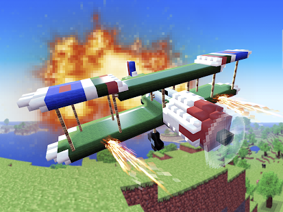 Airplane Cube Craft Block Wars
