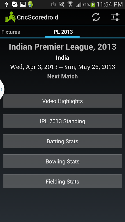 Cricscoredroid Live Cricket - screenshot