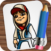 Drawing Subway Surfers