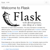 python flask doc