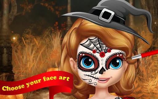Polly Halloween Face Art