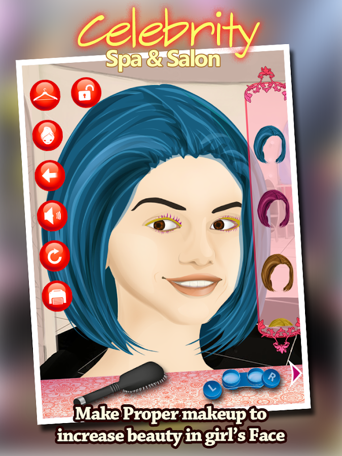 Celebrity Spa Salon & Makeover- screenshot