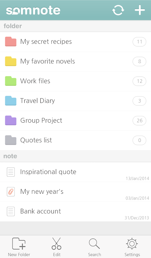 SomNote - Journal/Diary - screenshot