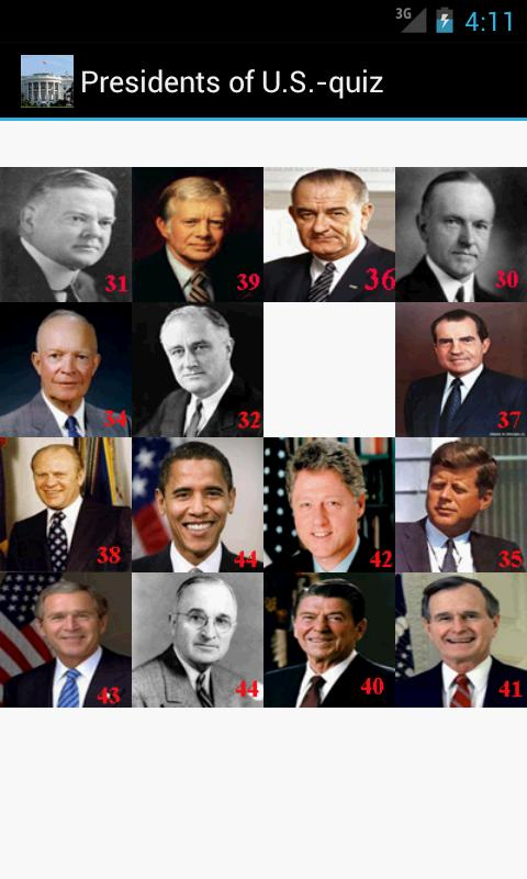 Presidents of U.S.-quiz- screenshot