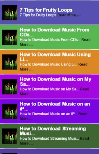 Music Downloader Tip