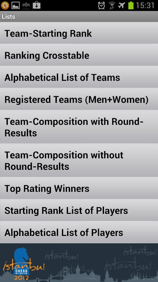 World Chess Olympiad 2012 - screenshot
