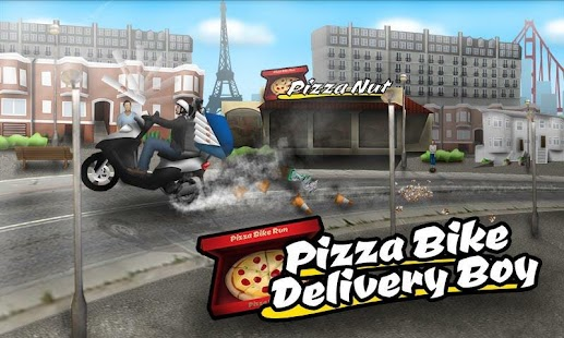 Pizza Bike Delivery Boy- screenshot thumbnail