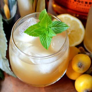 Loquat Bourbon Smash.