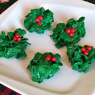 Holly Cookies.