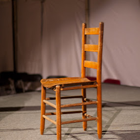 Festival Stage Chair by Jay Huron - Artistic Objects Furniture ( chair, storytelling festival, straight back, stage, spotlight, Chair, Chairs, Sitting )